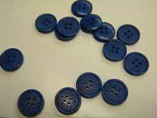 """6 boutons  neuf mercerie plastique couture bleu """"devernois"""" 1.7 cm lot 844"""