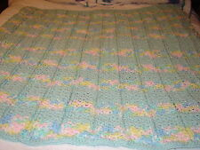 Handcrafted Hand Crochet Baby Afghan Blanket Can be used as Curtain