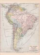 Sudamérica colombia chile perú mapa político 1897 ecuador guyana Uruguay