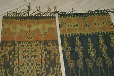 Hand spun Hand woven Intricate Sumba Hinggi Warp Ikat Tapestry Dye Resist IR45