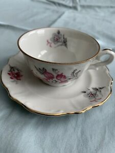 Vintage Porcelain Bavaria Tea Cup and Saucer Germany US Zone - Small
