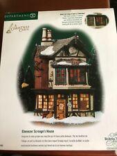 Dept 56 Animated Ebenezer Scrooge's House Dickens Village A Christmas Carol