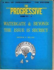 The Progressive December 1973 Watergate & Beyond Secrecy