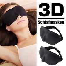 2x 3D Schlafmaske Augenmaske Damen Herren Schlafbrille Reise Maske Augenbinde