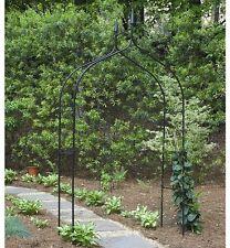 Steel Arbor Arch Archway Garden Yard Patio Wedding Black Metal 8 Feet Tall New