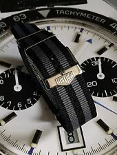 20mm TAG Heuer Buckle & Cinturino Nato ® Nero Grigio Bond