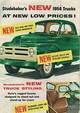 Vintage 1954 STUDEBAKER Truck Brochure:PickUp,3R5,3R15,3R16-3R28,3R17-3R38,1 Ton