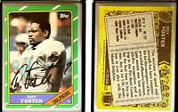 Roy Foster Signed 1986 Topps #52 Card Miami Dolphins Auto Autograph