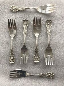 "LOT of SIX Reed & Barton Francis First Sterling Silver Salad Fork 6 1/8"" No Mono"