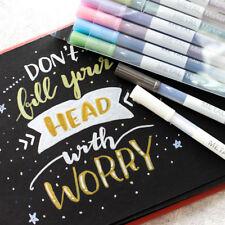 HOT 10 Colors Metallic Marker Pen Marking for Album Black Paper School Supplies