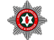 """4"""" NORTHERN IRELAND NIFRS UK  FIRE HELMET EMBLEM BUMPER DECAL STICKER USA MADE"""