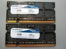8 GB AXIOM 15821 (2 X 4GB Sticks) DDR2 PC-6400 800 Memory Ram for Laptop #486