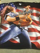 Vintage Ted Nugent Black Winterland Concert Tour Shirt 1995 Large Rare!
