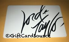 LORD & TAYLOR GIFT CARD WHITE WITH SILVER LETTERS 2012 COLLECTIBLE NO VALUE NEW