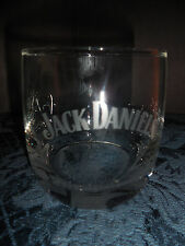 JACK DANIEL'S CLEAR WHITE LETTERING (1) ON THE ROCKS GLASS NO. 7 ON BOTTOM