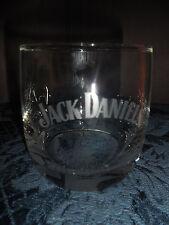 VTG JACK DANIEL'S CLEAR WHITE LETTERING (1) ON THE ROCKS GLASS NO. 7 ON BOTTOM