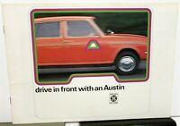 1975 Austin British Leyland UK Dealer Sales Brochure Mini Allegro Maxi Saloon