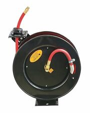 "ReelWorks Steel Retractable Air Compressor/Water Hose Reel with 3/8"" x 25'"