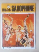 VINTAGE SHEET MUSIC BOOK - FUN WITH THE SAXOPHONE - LEVEL 1 EASY SOLOS