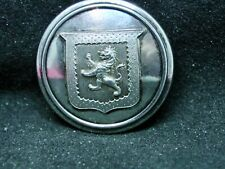 TALBOT FAMILY HERALDIC SHIELD LION 25mm S/P LIVERY BUTTON EXTRA QUALITY c 1840