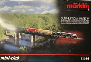 Marklin 81466 American Z Gauge Steam Freight Train Set LNIB Complete