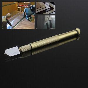 Steel Blade Oil Feed Glass Cutter Cutting Diamond Antislip Metal Handle 3-12mm
