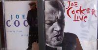 Joe Cocker- Across from Midnight/ LIVE- 2 CDs