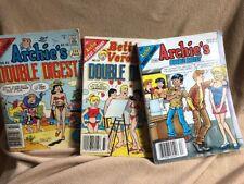 Lot 3 Archie Comics Double Digest 1989 #42/ #183/2000/ Betty &veronica #33 1992