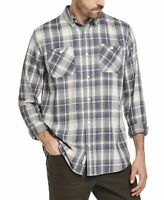 Weatherproof Mens Shirt Gray Nude Size M Button Up Plaid Burnout Flannel $60 034
