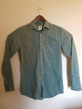 Mens LACOSTE Green Plaid Button Front Shirt M (38) Long Sleeves Cotton Big Tall