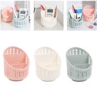 Rattan Compact Basket Kitchen Bathroom Office Desk Organizer Pen Holder CH
