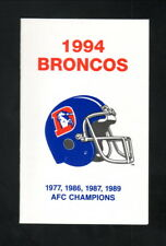 Denver Broncos--1994 Pocket Schedule--DIA Flight Guide