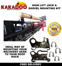 HIGH LIFT JACK & SHOVEL HOLDER MOUNTING BRACKET KIT SUIT ROOF RACK 4X4  4WD