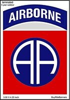 4 Inch US Army 82nd Airborne Decal/Sticker. High Quality, Laminated.
