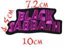 Quality Iron/Sew on Black Sabbath biker patch concert logo Ozzy Osbourne
