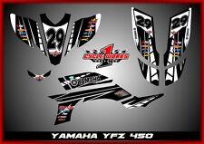 Yamaha YFZ 450 04-09  SEMI CUSTOM GRAPHICS KIT TUX