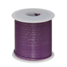 """22 AWG Gauge Solid Hook Up Wire Violet 100 ft 0.0253"""" UL1007 300 Volts"""