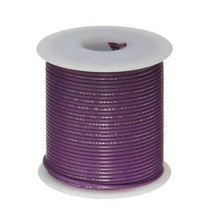 """22 AWG Gauge Stranded Hook Up Wire Violet 100 ft 0.0253"""" UL1007 300 Volts"""