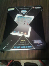 "IPAD 2 & The New IPAD Black xtreme guard smart folio 10"" durable case"