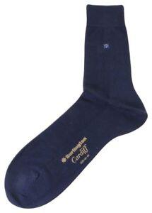 Burlington Mens Cardiff Socks - Marine Navy