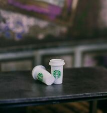 Set of 2 Starbucks Hot Coffee Cups ACCESSORIES ONLY Mezco, Marvel Legends 1/12
