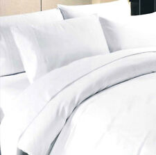 WHITE / HOTEL QUALITY EGYPTIAN COTTON PERCALE 200 T/C KING SIZE BED DUVET SET