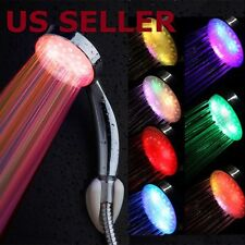 Colorful Home Bathroom 7 Colors Changing LED Shower Head Water Faucet Glow Light