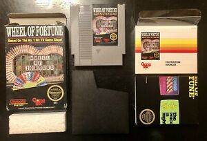 Wheel of Fortune (Nintendo, NES 1988) Complete in Box CIB with Poster!