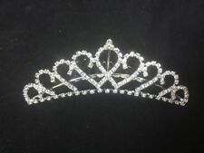 Love Heart Diamonte Tiara Wedding Girls Formal Birthday Party Graduation Comb