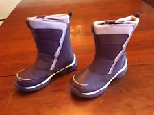 Lands End Girls Snow Flurry Boots Youth Size 3 Purple