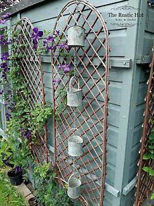 Rain Chain Hanging Garden Ornament, Verdigris Effect, Buckets on a Chain 120cm