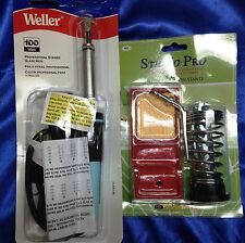 Soldering Tool Combo- Weller - W100Pg Soldering Iron 100 Watt + Heavy iron Stand
