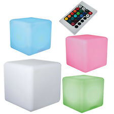30CM COLOUR CHANGING CUBE 18 COLOURS LED LAMP MOOD RELAX NIGHT LIGHT AMBIENT NEW
