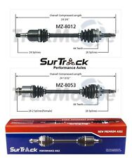 For Mazda Protege 95-98 FWD 1.8L L4 Pair of Front CV Axle Shafts SurTrack Set
